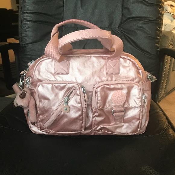 db2d1abd06 Kipling Handbags - Kipling Defea Rose Gold Metallic Crossbody